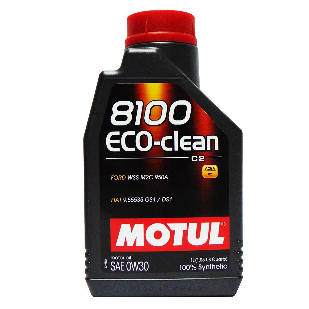 OLIO MOTORE MOTUL 8100 ECO-CLEAN SAE 0W30 100% SINTETICO 1L