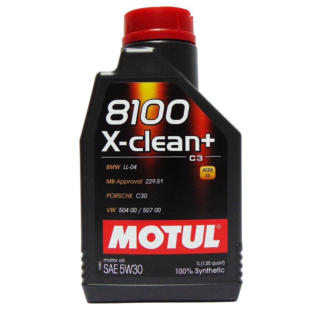 OLIO MOTORE MOTUL 8100 X-CLEAN+ SAE 5W30 100% SINTETICO 1L