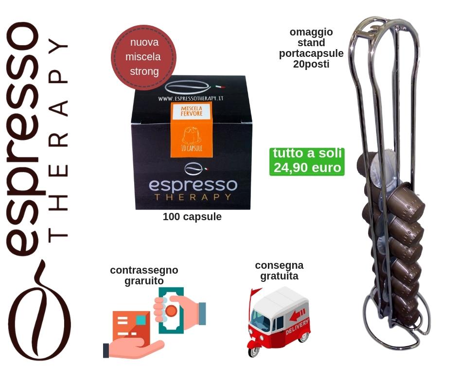 100 capsule miscela forte compatibili nespresso+portacasule+consegna gratuita+paga al corriere