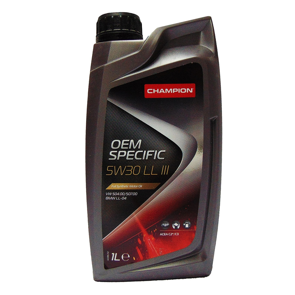 OLIO MOTORE CHAMPION OEM SPECIFIC 5W30 LL III FULL SYNTHETIC 1L