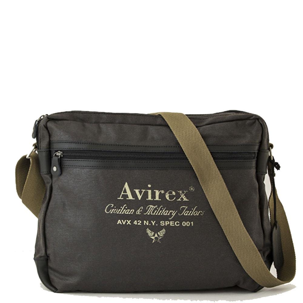 Avirex - Alifax - Borsa a tracolla unisex 1 scomparto verde scuro cod. A8 4892943370f