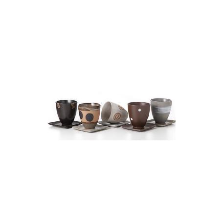 Set da Tè Giapponese con 5 Tazze