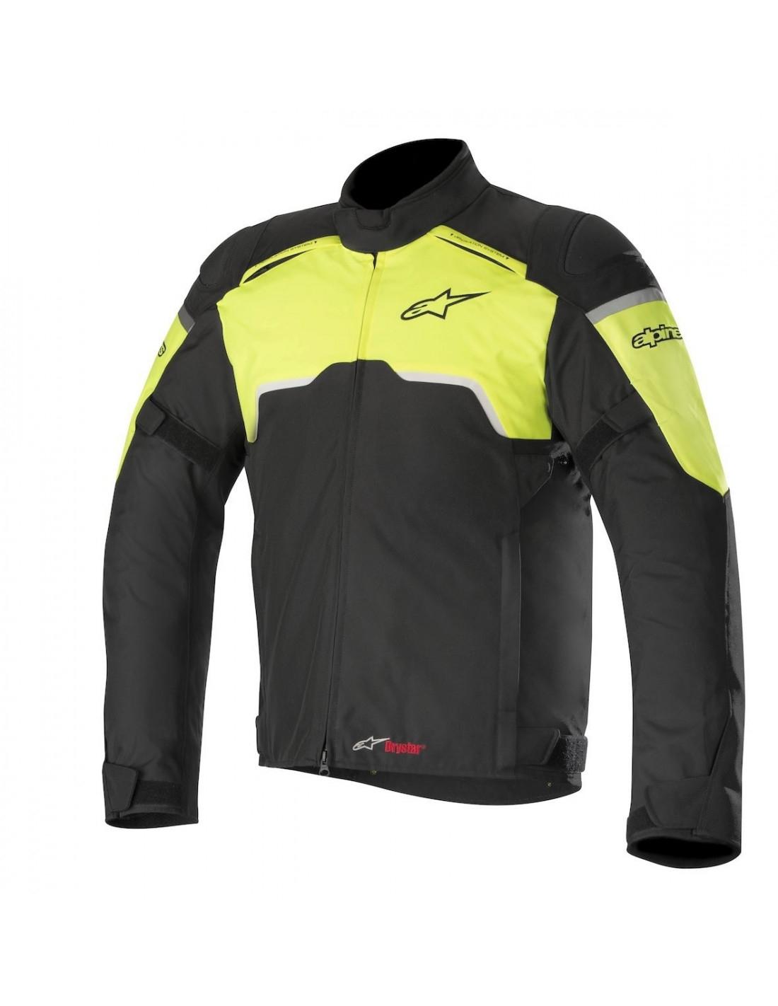 GIACCA MOTO ALPINESTARS HYPER DRYSTAR BLACK YELLOW FLUO COD. 3204718