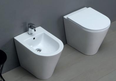 Vaso e bidet a terra per il bagno cm 54 x 37 Forma Azzurra