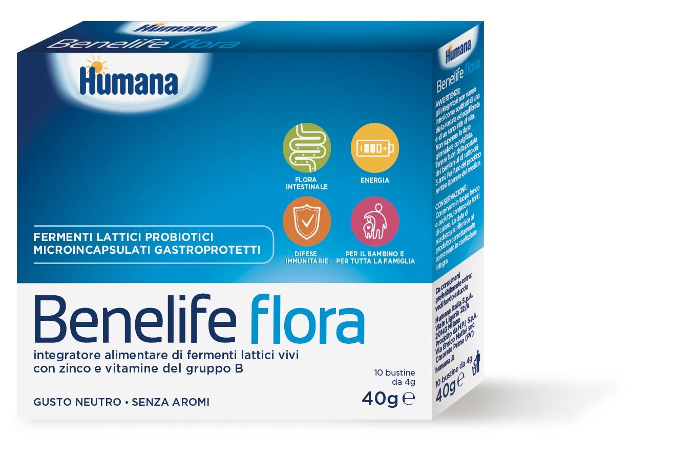 Humana Benelife Flora 10 bustine