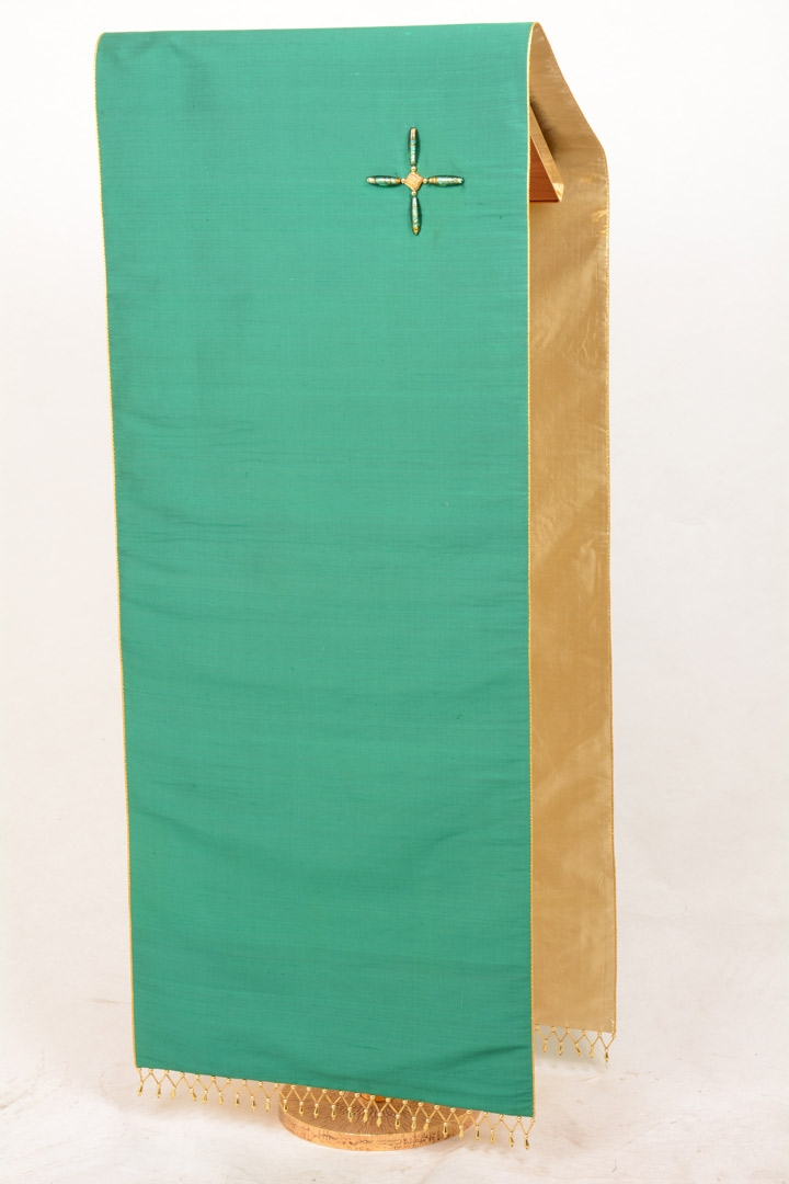 Copri Ambone Croce Perle CR2022 MF - Verde - 50 x 260 cm