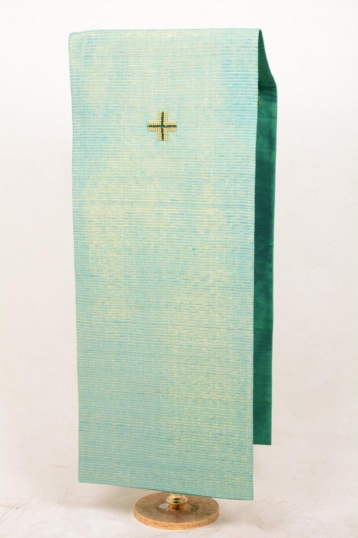 Copri Ambone Croce Perle CR2050 MB - Verde - 50 x 260 cm
