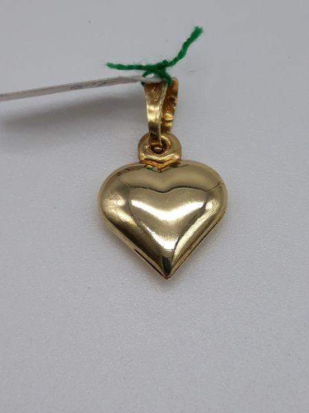 Ciondolo Donna a Cuore liscio e diamantato in oro giallo 750, vendita on line | GIOIELLERIA BRUNI Imperia