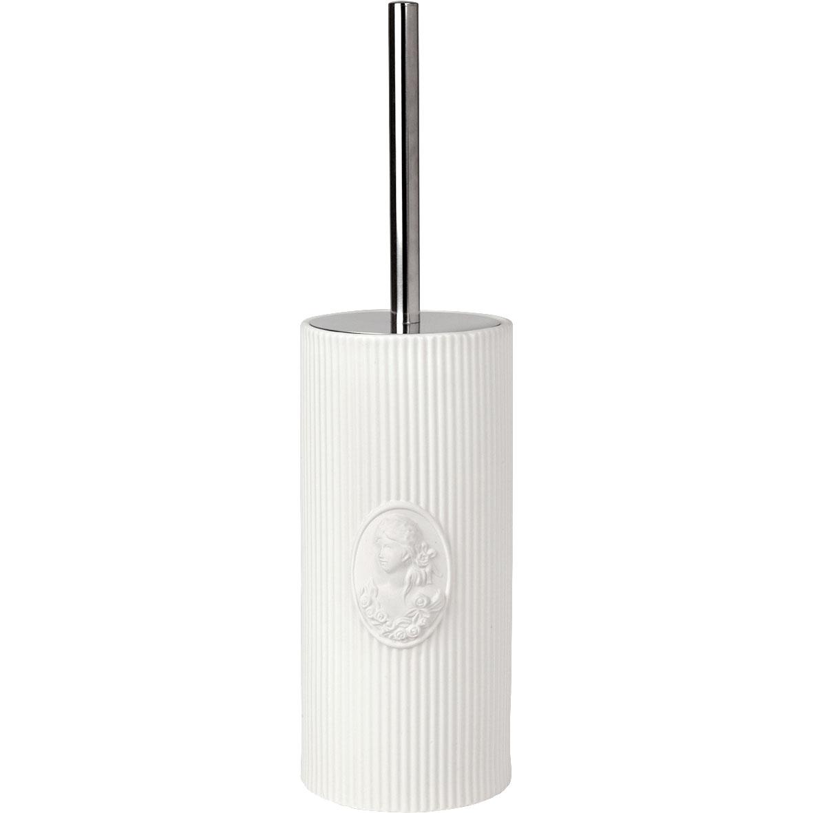 Spazzolone per wc in ceramica bianca, Linea Marquise di Mathilde M.