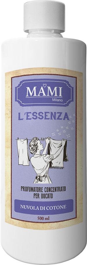Profumatore concentrato per il bucato, L'essenza di MAMI, flacon da 200 ml. Nuvola di Cotone
