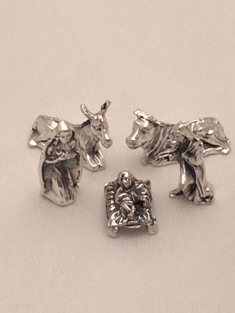Natività in metallo 5 pezzi cm. 1,7