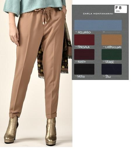 Pantalone tasche davanti, vita con elastico e coulisse