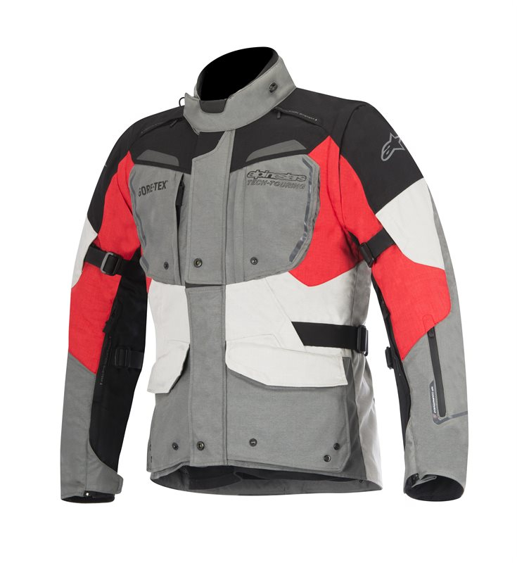 GIACCA MOTO ALPINESTARS DURBAN GORE-TEX JACKET GRAY BLACK RED COD. 3601016