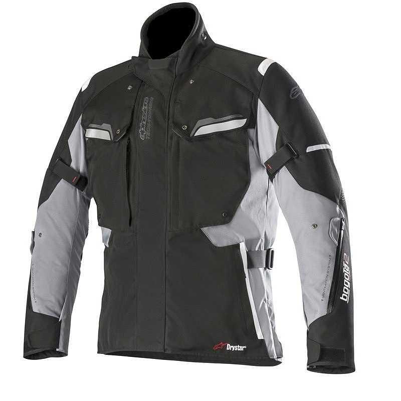 GIACCA MOTO ALPINESTARS BOGOTA' V2 DRYSTAR JACKET BLACK DARK GRAY COD. 3207018