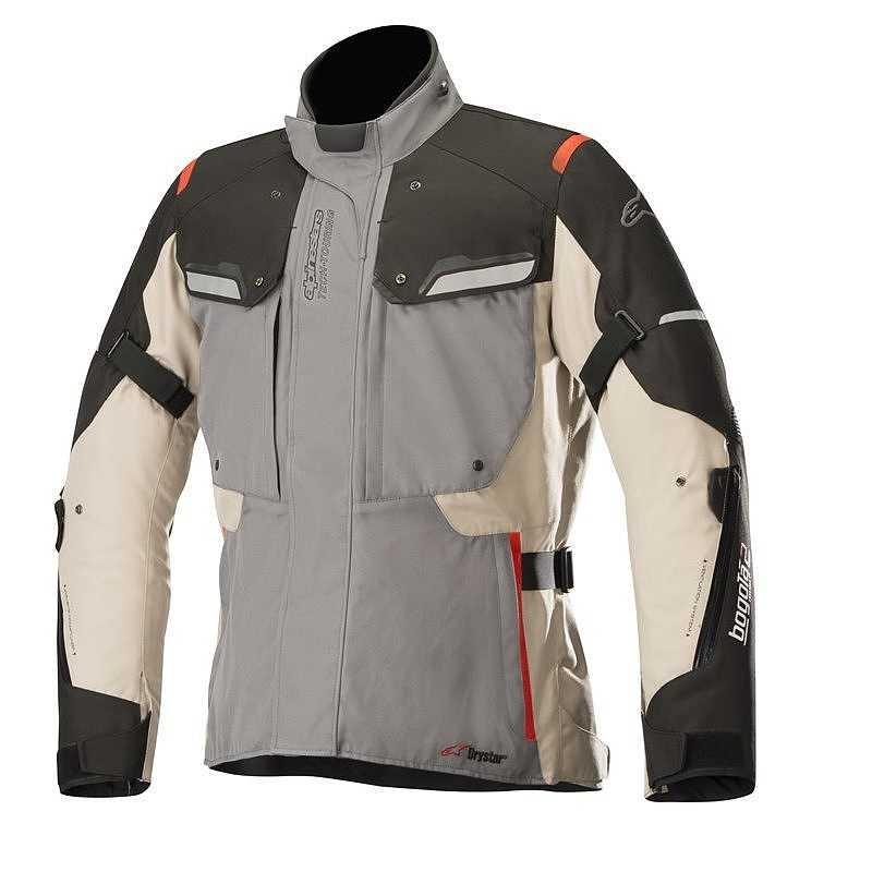 GIACCA MOTO ALPINESTARS BOGOTA' V2 DRYSTAR JACKET DARK GRAY SAND BLACK COD. 3207018