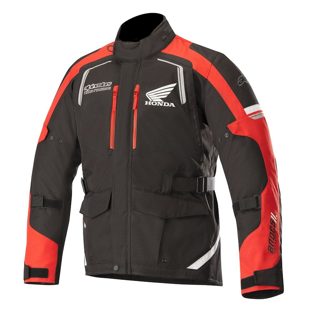 GIACCA MOTO ALPINESTARS HONDA ANDES V2 DRYSTAR JACKET BLACK RED COD. 3207418