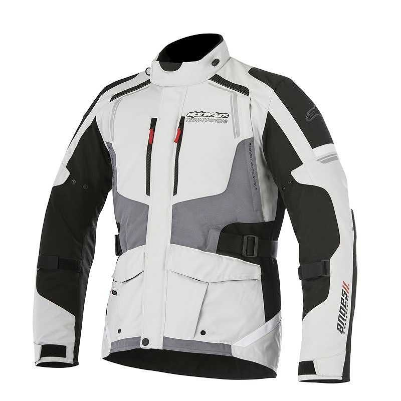 GIACCA MOTO ALPINESTARS ANDES V2 DRYSTAR JACKET LIGHT GRAY BLACK DARK GRAY COD. 3207517
