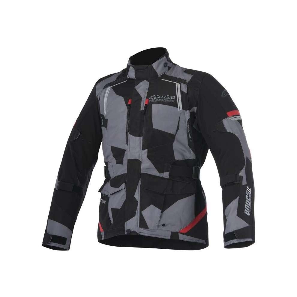 GIACCA MOTO ALPINESTARS ANDES V2 DRYSTAR JACKET BLACK CAMO RED COD. 3207517