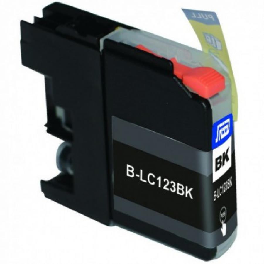 Cartuccia Compatibile con BROTHER LC121 LC123 BK New-Chip