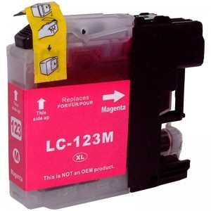 Cartuccia Compatibile con BROTHER LC121 LC123 Magenta New-Chip