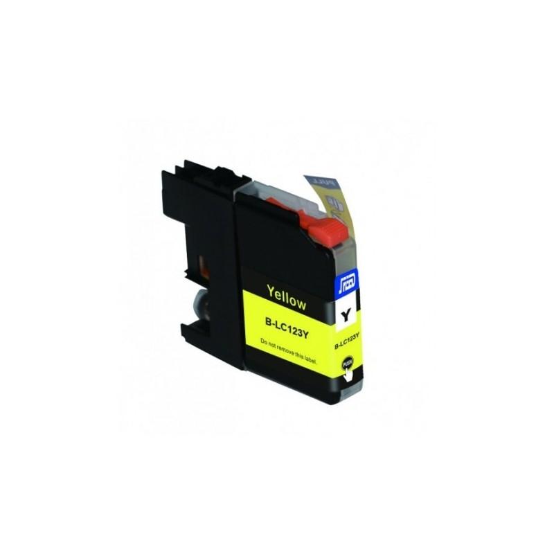 Cartuccia Compatibile con BROTHER LC121 LC123 Yellow New-Chip