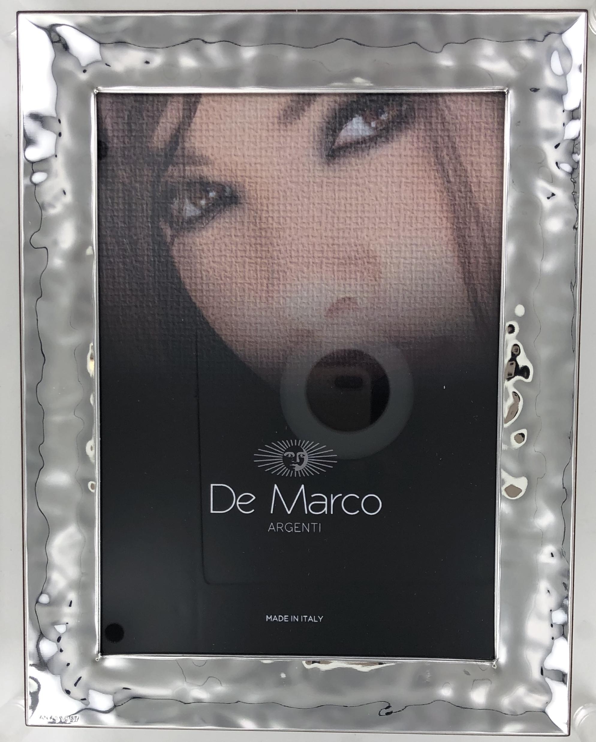 Cornice portafoto in argento bilaminato
