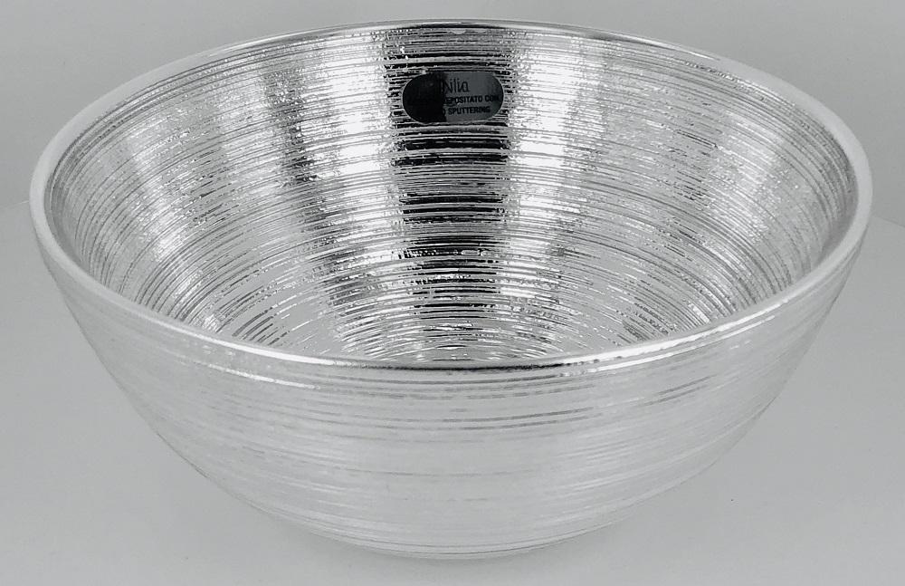 Ciotola vetro argentato modello marte color argento diametro 15 cm