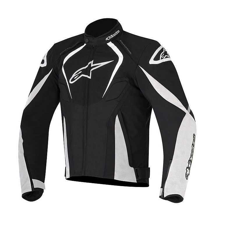 GIACCA MOTO ALPINESTARS T-JAWS WATERPROOF JACKET BLACK WHITE COD. 3201017