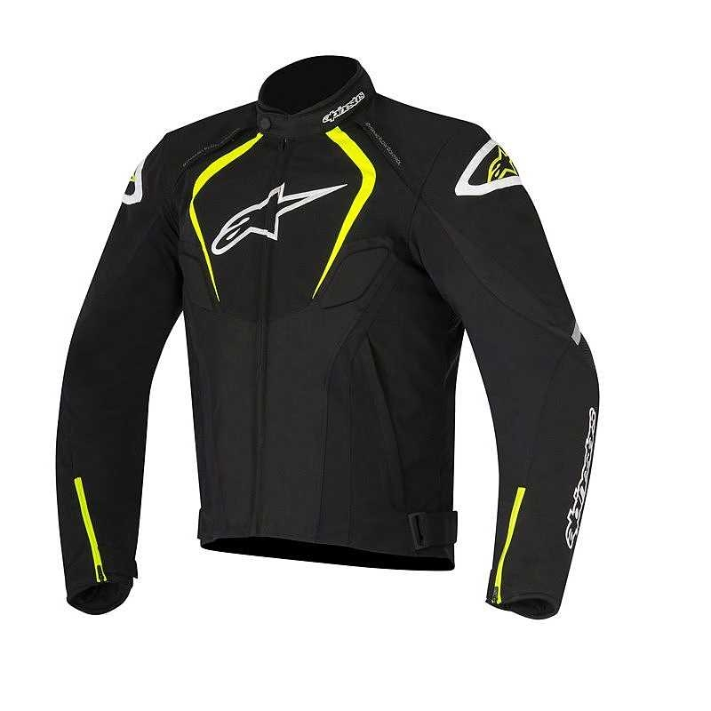GIACCA MOTO ALPINESTARS T-JAWS WATERPROOF JACKET BLACK YELLOW FLUO COD. 3201017