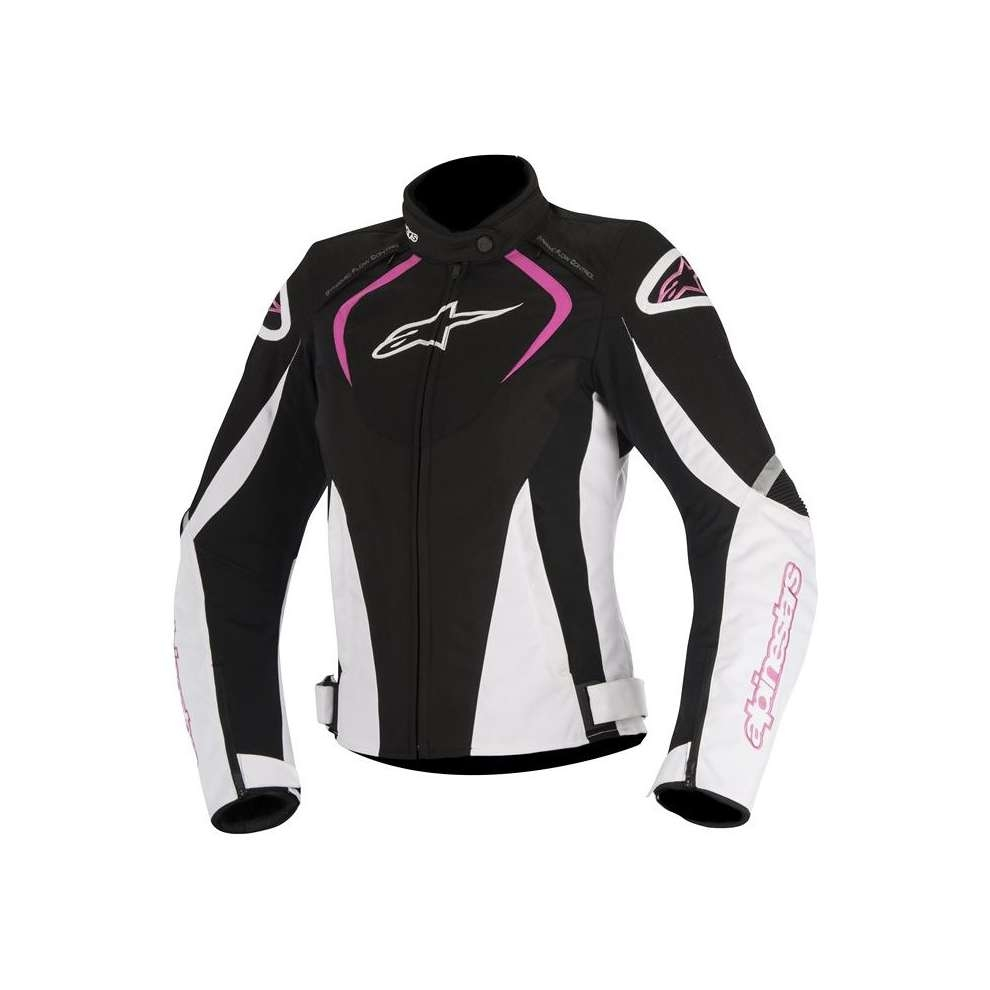GIACCA MOTO ALPINESTARS STELLA T-JAWS WATERPROOF JACKET BLACK WHITE FUCHSIA COD. 3211017