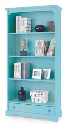 Libreria H189 in legno, laccato Consumato