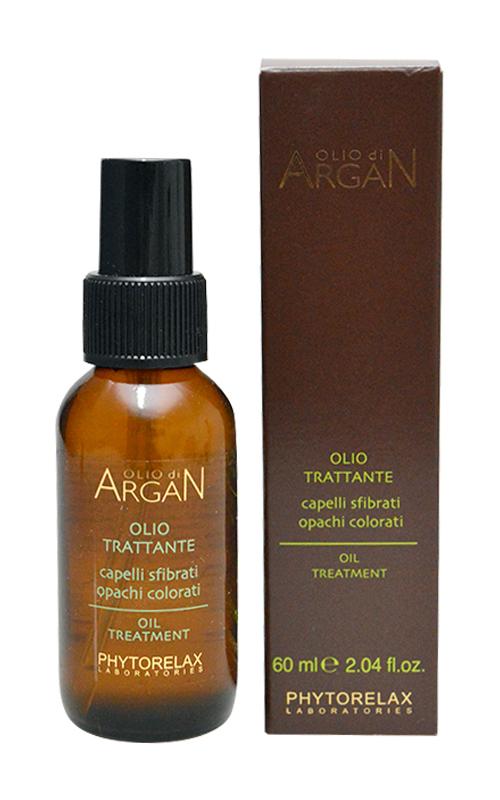 PHYTORELAX Olio di argan trattante per capelli sfibrati, opachi, colorati