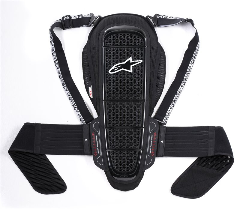 PARASCHIENA MOTO ALPINESTARS NUCLEON KR-1 BLACK WHITE COD. 6504515