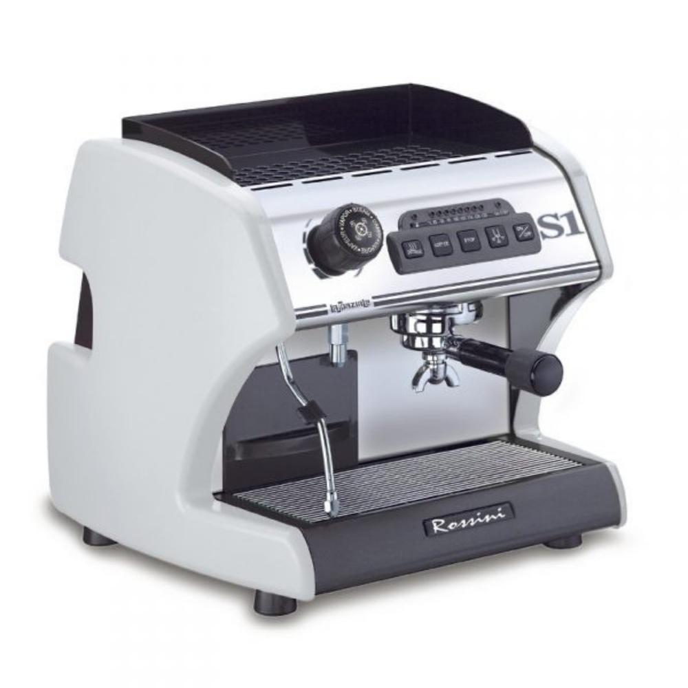 Macchina caffè La Spaziale S1 ROSSINI argento elettronica con dosatura regolabile.