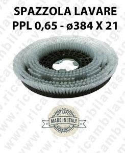 SPAZZOLA LAVARE  in PPL 0,65. Dimensioni ø384 X 121 valida per lavapavimenti, monospazzole (17 pollici) e spazzatrici