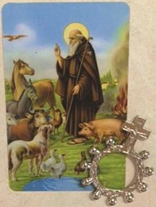 Immagine S. Antonio abate con rosario