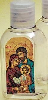 Bottiglietta plastica 50 ml. (100 pz) Sacra Famiglia