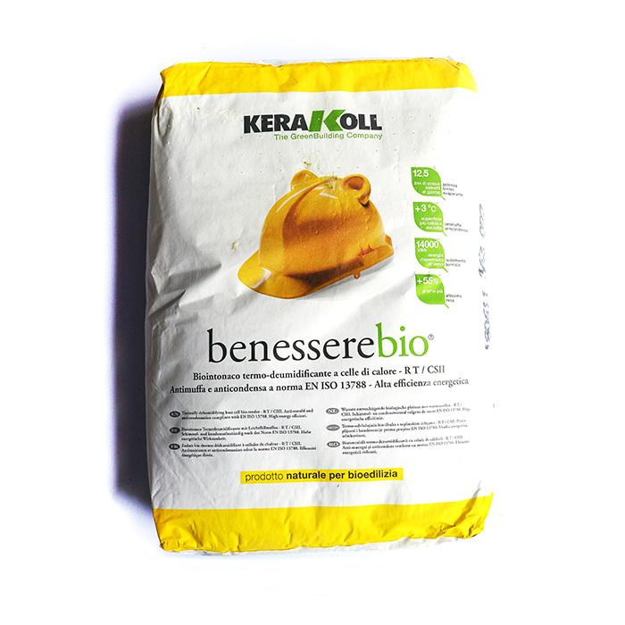Kerakoll Benessere Bio 18 Kg Intonaco termo-deumidificante