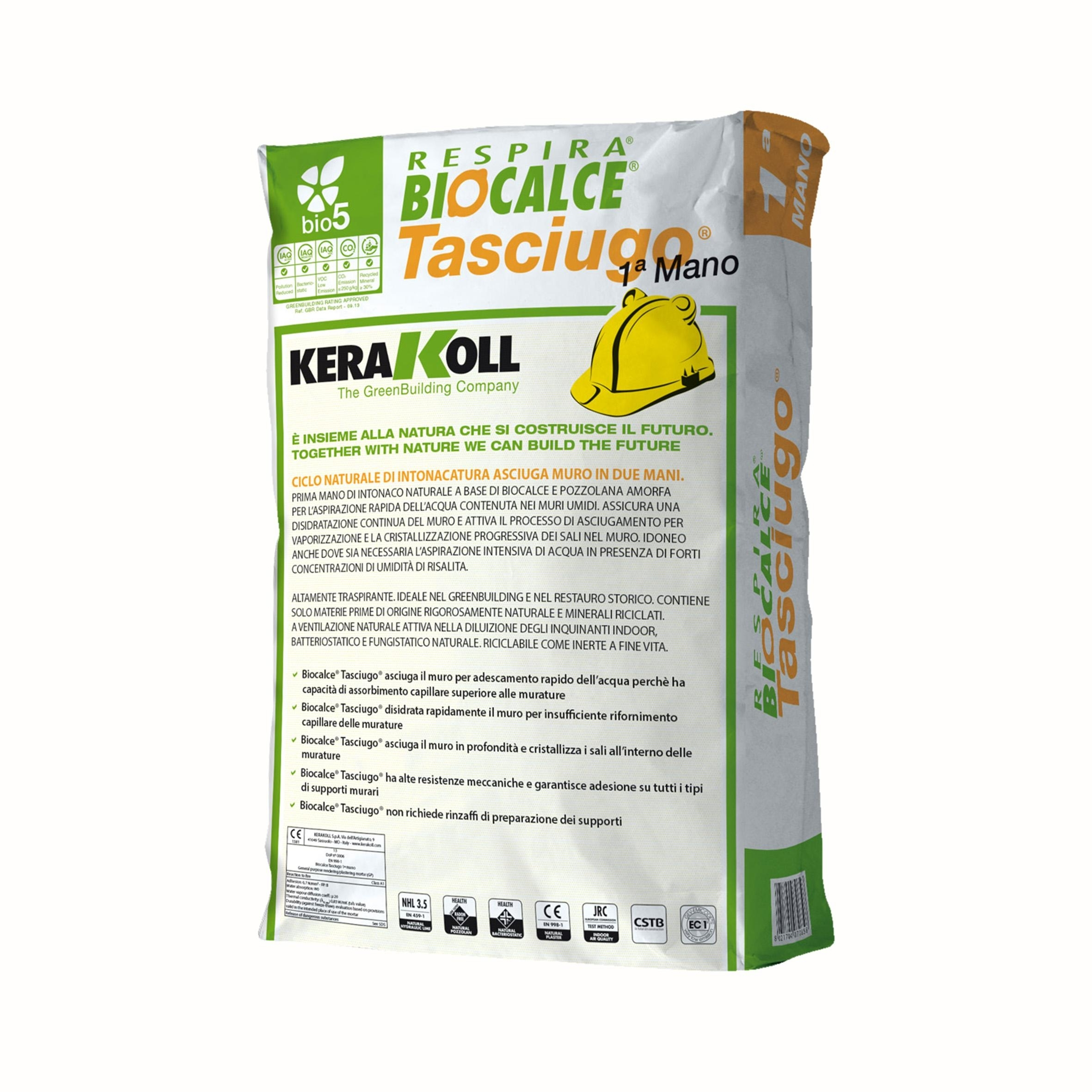 Kerakoll Tasciugo Biocalce 1 Mano Kg 25