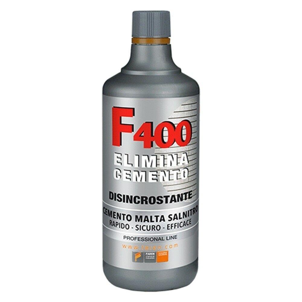 F400  Disincrostante Faren Elimina Cemento  Malta Salnitro  1000ml