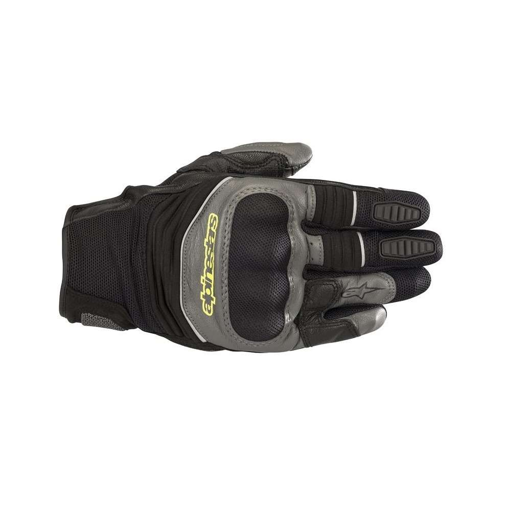 GUANTI MOTO ALPINESTARS CROSSER AIR TOURING BLACK ANTHRACITE YELLOW FLUO COD. 3575518