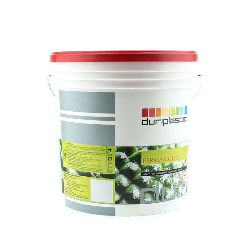 Duriplastic fermamuffa idropittura igienizzante traspirante lavabile base bianca 13lt