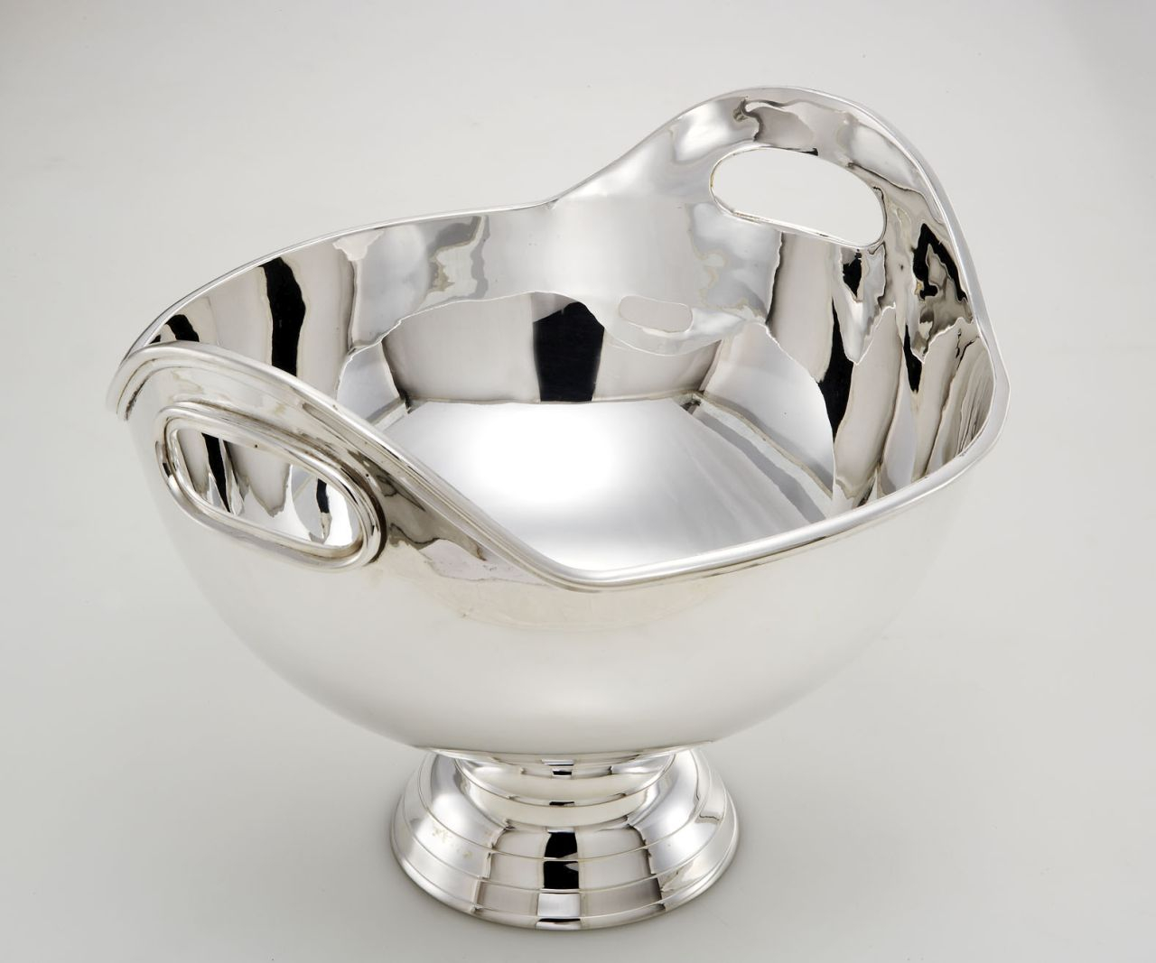 Spumantiera secchiello champagne placcato argento sheffield stile Inglese cm.34h diam.43
