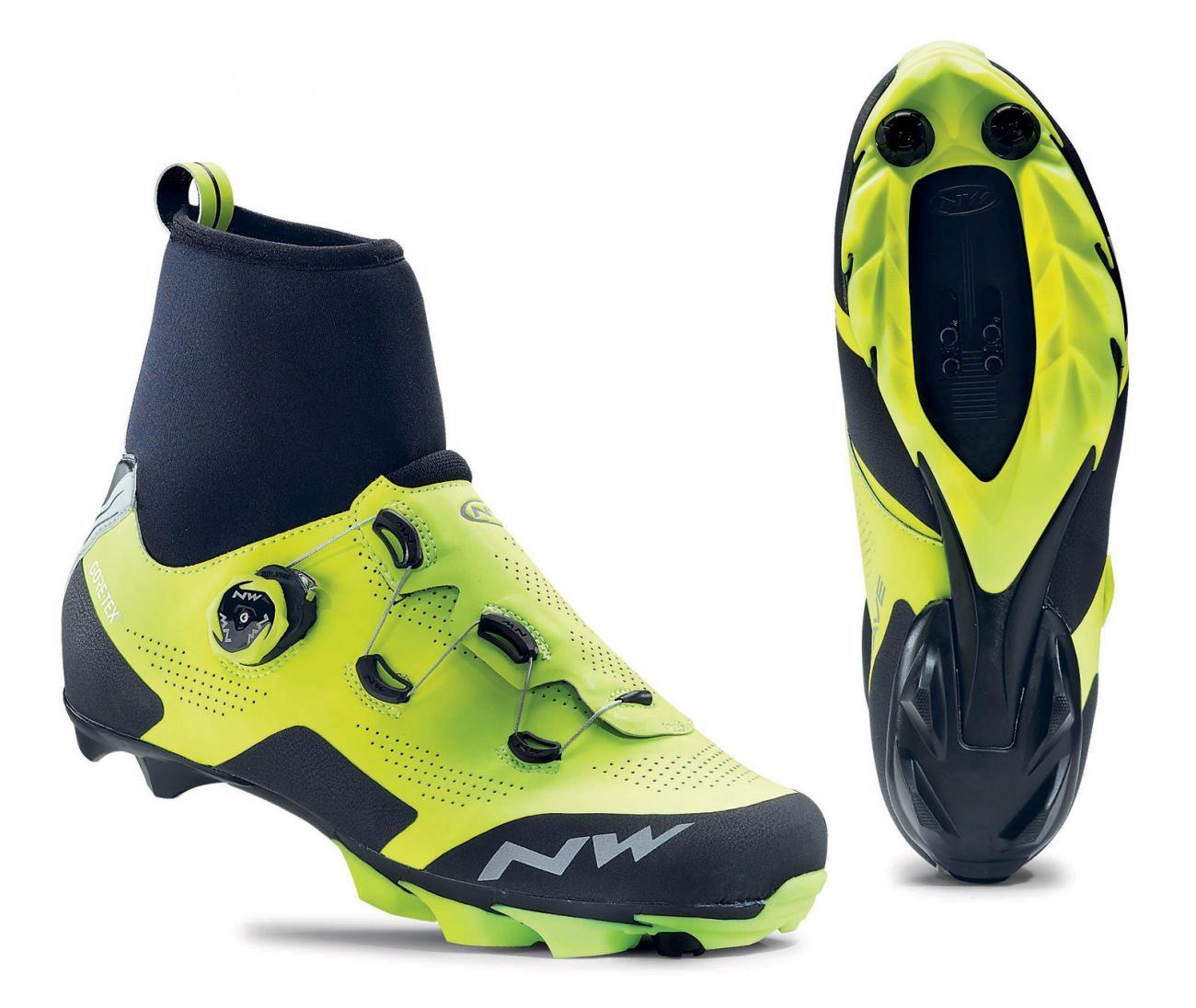 NORTHWAVE Man MTB XC shoes RAPTOR GTX yellow fluo/black