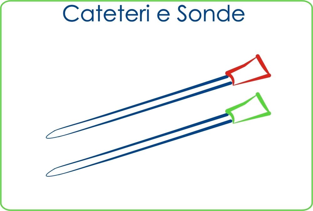 Cateteri e Sonde: cateteri Foley e Nelaton, Sonde rettali e duodeanali, Cateteri per aspirazione e intravenozi