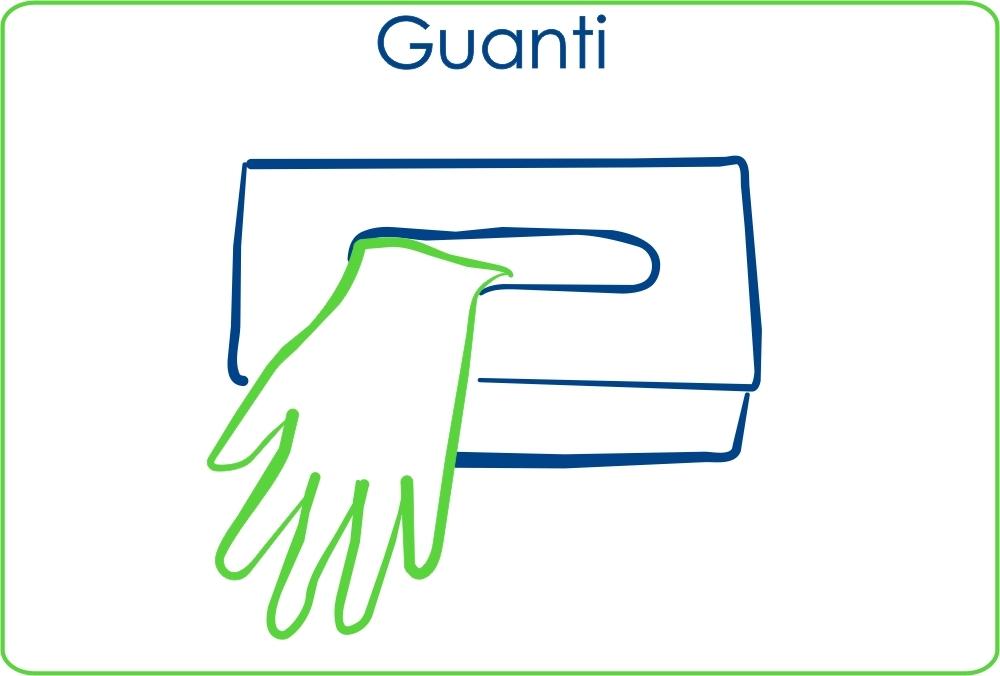 Guanti: guanti chirugici, guanti per esaminazione, guanti anti-rx, guanti per procedure speciali