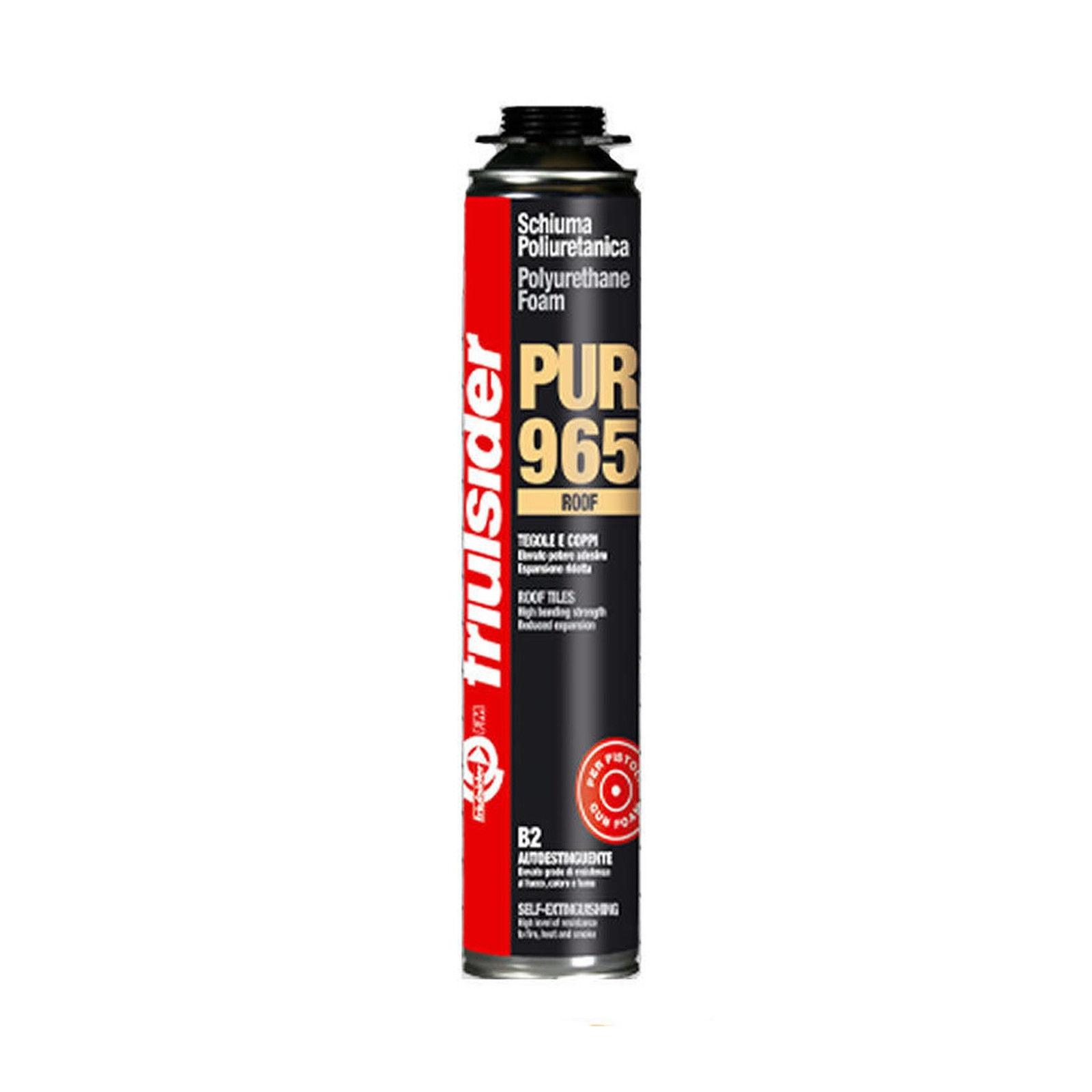 Friulsider schiuma poliuretanica professionale pur 965 per tetti e coppi erogazione con pistola