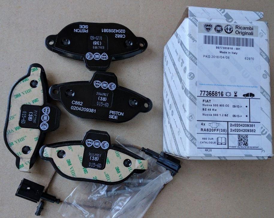 Serie pastiglie freni anteriori 500, Ford Ka
