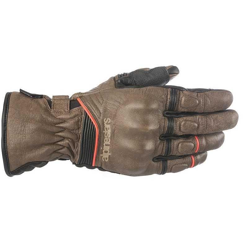GUANTI MOTO ALPINESTARS CAFE DIVINE DRYSTAR BROWN BLACK COD. 3528318