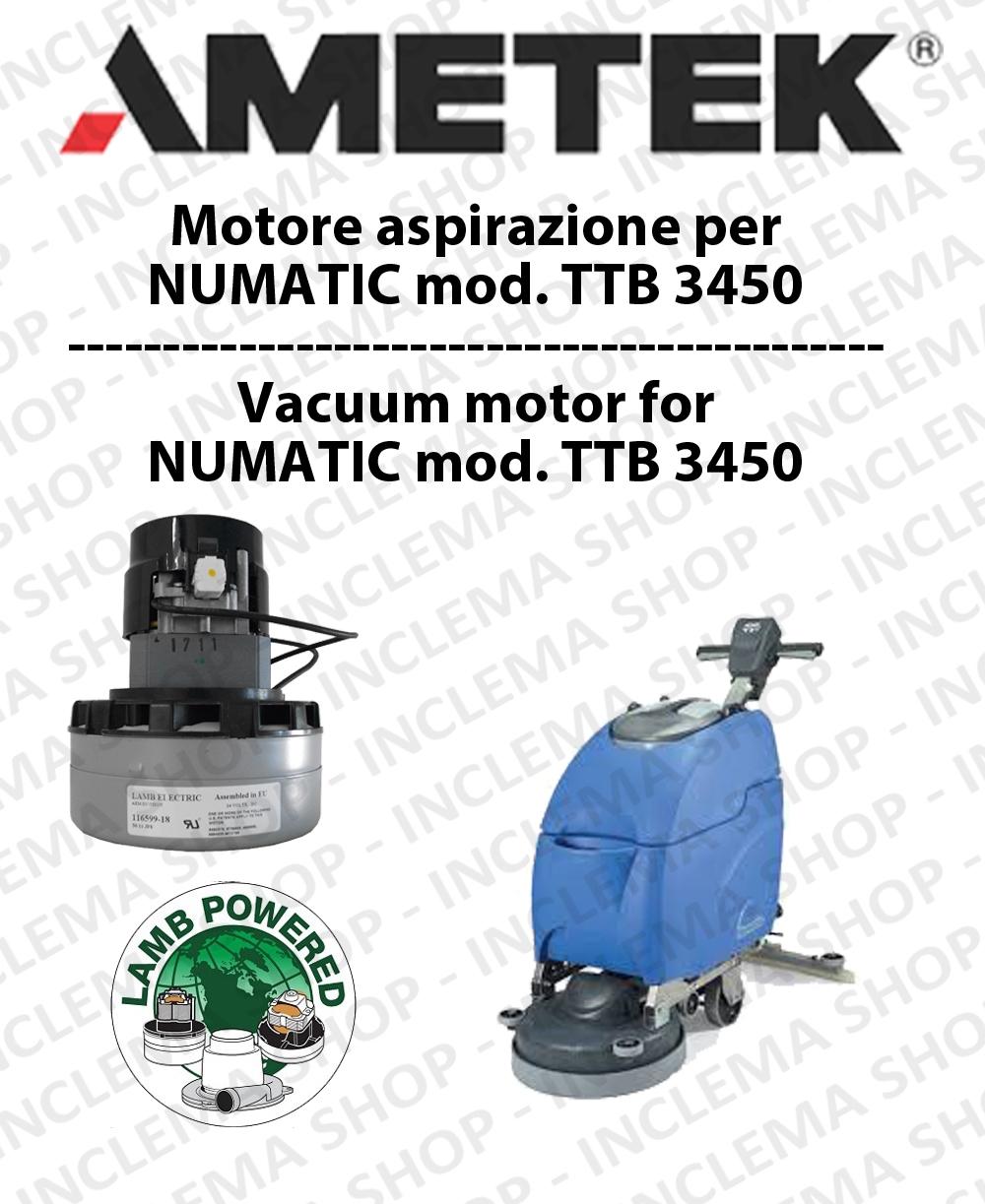TTB 3450 moteur aspiration AMETEK autolaveuses NUMATIC